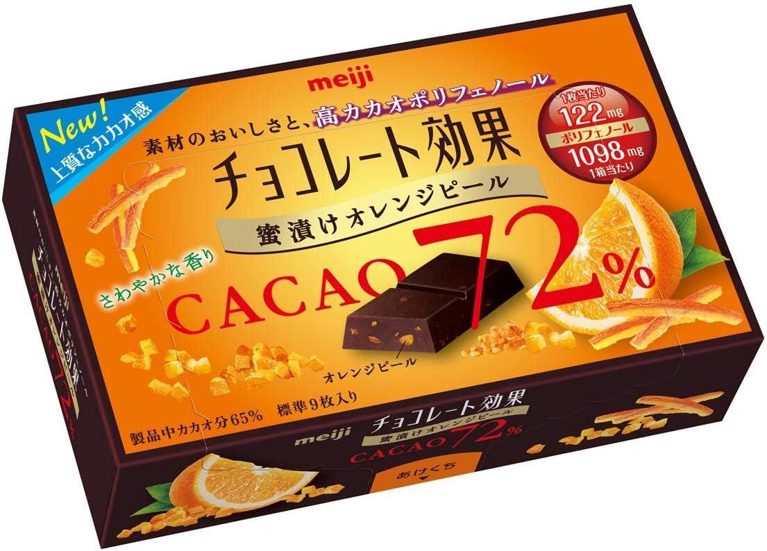 明治 チョコレート効果カカオ72%蜜漬けオレンジピール