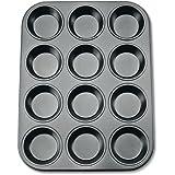 Städter 488069 Muffinform in Geschenkverpackung mit Rezept 12 Formen, Antihaft-Beschichtung, ø 7.0 cm/H 3.3 cm