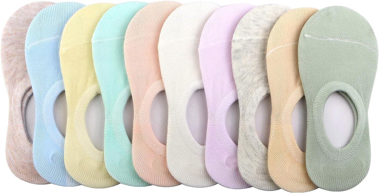 BOOPH 10 Pairs No Show Socks for Girls Boys Anti-slip Low Cut Kid Socks 3-9 Year: Clothing