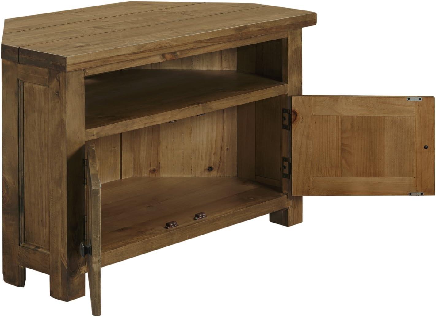 Sala de estar mueble de esquina para televisor armario de nuestra gama de Cotswold muebles rústicos: Amazon.es: Hogar