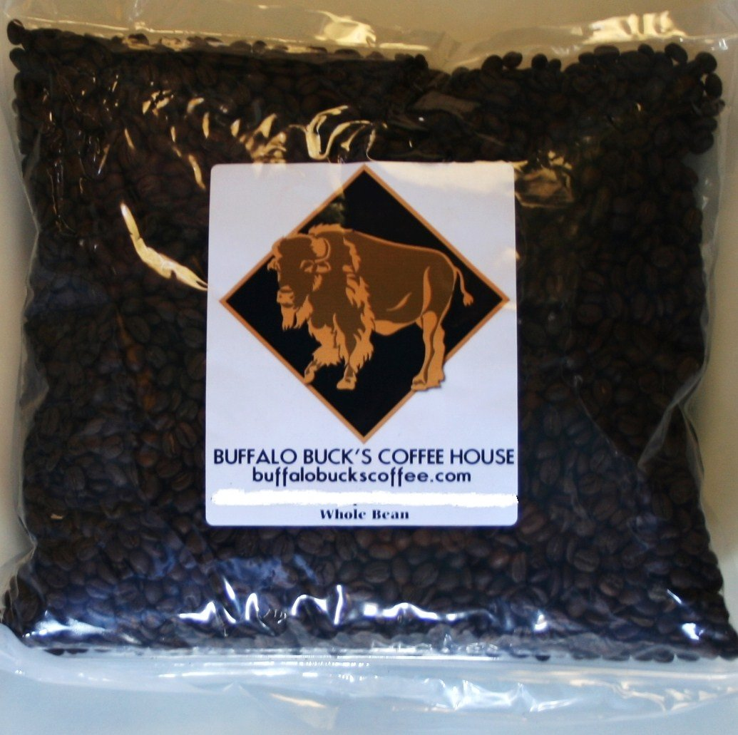 Caramel Mudslide Flavored Coffee Beans Top Arabica Irish Liqueur with Caramel 5 Pounds Fresh Roasted by Buffalo Buck's Coffee
