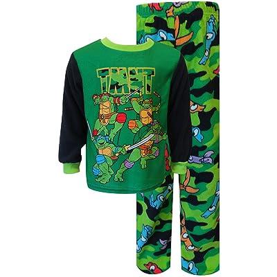 AME Teenage Mutant Ninja Turtle Camo Fleece Toddler Pajama Set for Little Boys (2T)