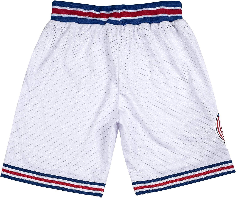 Youth Basketball Shorts 90S Kids Space Jam Tune Squad Shorts S-XL White//Black