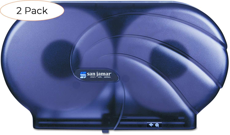 Black Pearl Pack 4 San Jamar R4090TBK Twin 9 JBT Toilet Tissue Dispenser