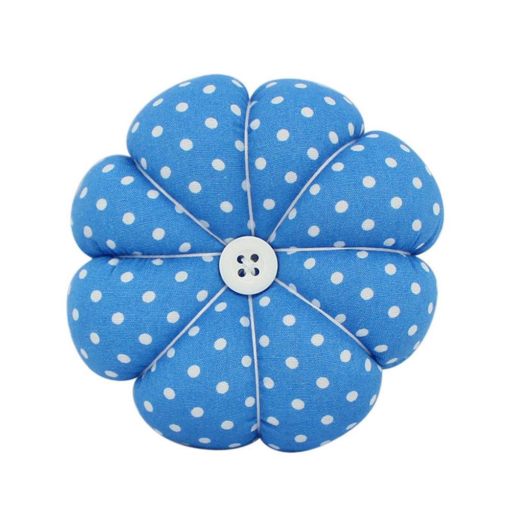 ROSENICE Puntaspilli cucito Cuscino a forma di zucca (Blu)