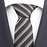 "Awesome 360 Men's Classic Ties 100% Silk Casual Business Stripe Pattern Formal Woven Stain Modern Neckties-3.1"" Width"