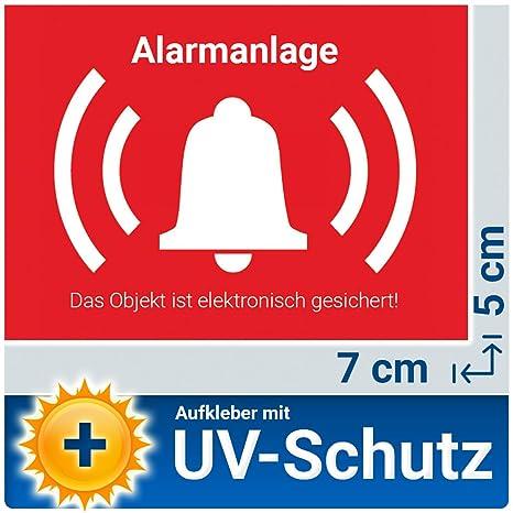 5 Stück Alarm Aufkleber Sticker Außen Warnaufkleber Alarmanlage Mit Uv Schutz Aussenklebend Objekt Alarmgesichert Hinweis Alarmanlage Als