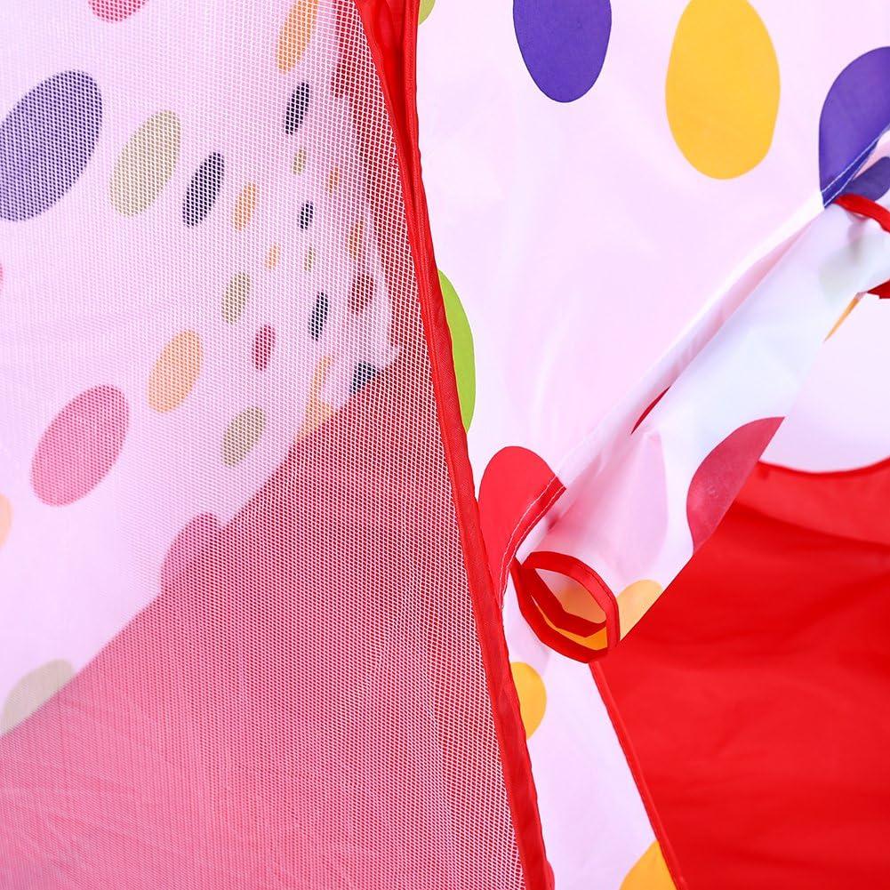 3 en 1 Tente de Jeux Enfant avec Tunnel et Piscine /à Boules Jeu de Maison pour Enfant B/éb/é aux Jeux dint/érieur et Ext/érieur GOTOTO Tente de Jeux pour Enfants Rouge