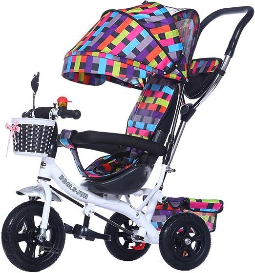 SXZHSM - Carro de Bicicleta Plegable con 4 carritos para niños de ...