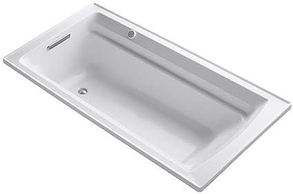 kohler k 1124 g 0 archer 6 foot bubblemassage bath white rh amazon com