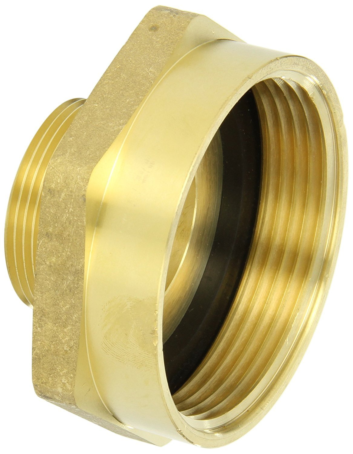 Campbell Fittings FM25F15T Female to Male Nipple, 2.5'' ID, Brass, 2-1/2'' NST x 1-1/2'' NPT