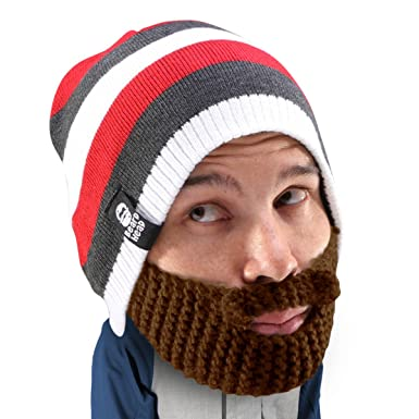63f97b81f8c Beard Head Stubble Cruiser Beard Beanie - Funny Knit Hat and Fake Beard  Facemask  Amazon.co.uk  Clothing