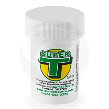 Amazon.com: SUPER T Numbing Cream Tattoo Painless Anesthetic Gel: Beauty