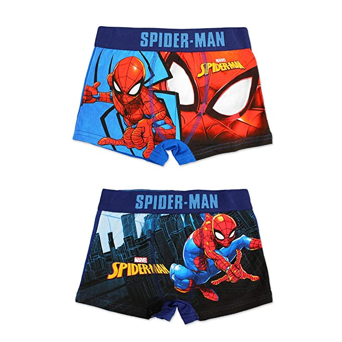 Spiderman Boys Boxer Shorts//Trunks Ages 4-10 Years Available