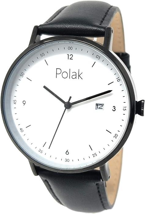 Polak Orzel Bauhaus Minimalist Quartz Dress Watch