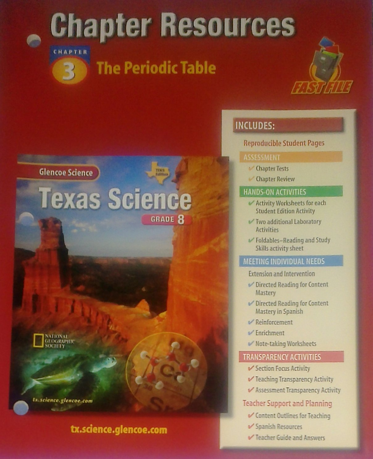 Glencoe Fast File Chapter Resources Properties of Atoms and the Periodic Table. (Paperback) pdf epub