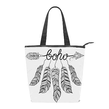 Amazon.com: Bolsos de lona para mujer, bolso de hombro con ...