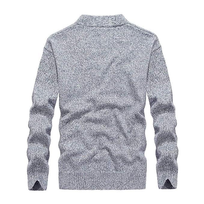 ... Punto SuéTeres Los Hombres OtoñO E Invierno SuéTer con Cremallera Casual Grueso Manga Larga Camiseta Jersey Blusa Superior: Amazon.es: Ropa y accesorios