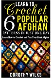 Learn to Crochet 6 Popular Afghan Patterns in Just One Day: Learn How to Crochet and Plan Your First Afghan