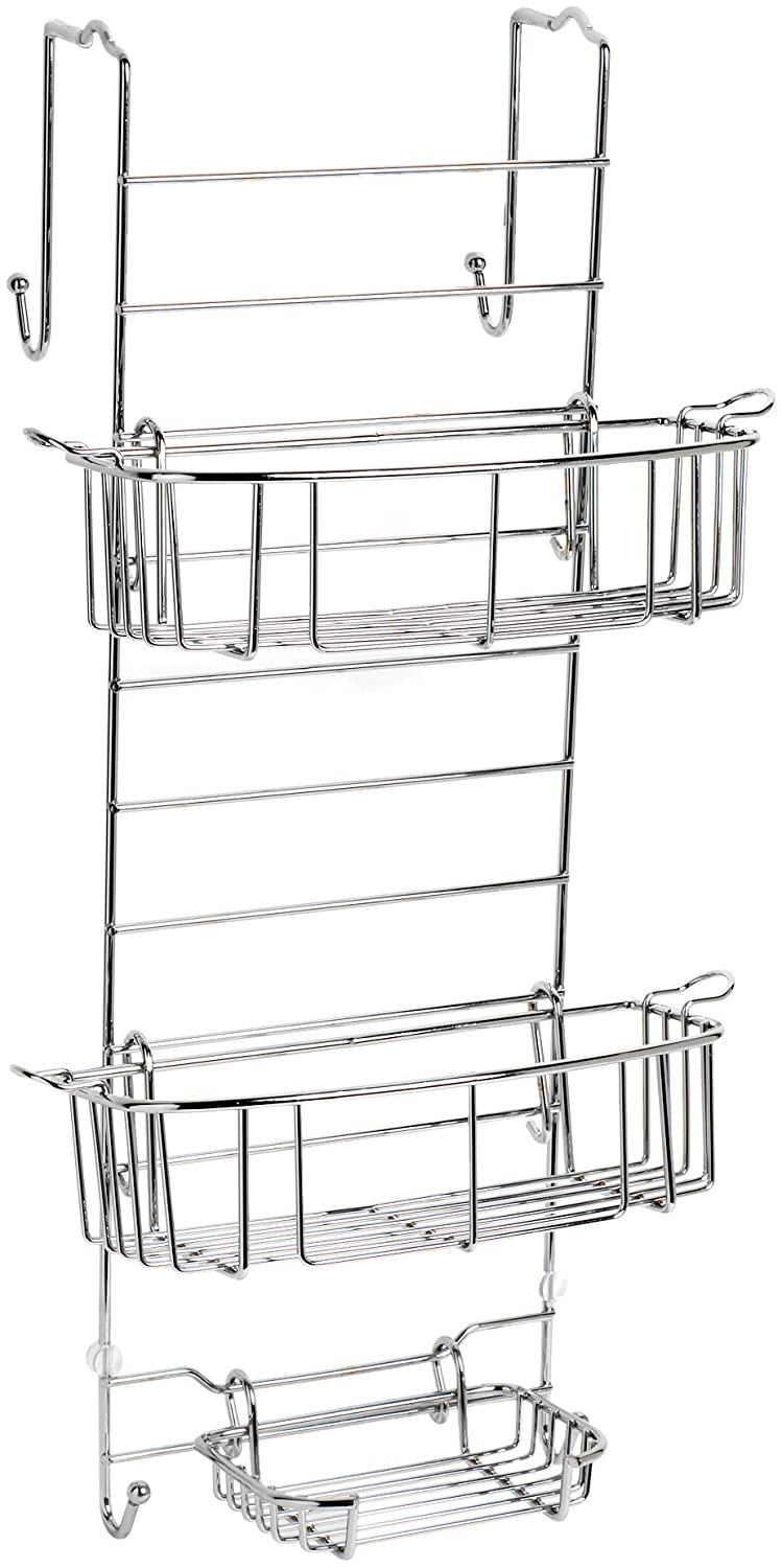Amazon.com: Zenna Home 7803SS, Over-the-Shower Door Caddy, Chrome ...