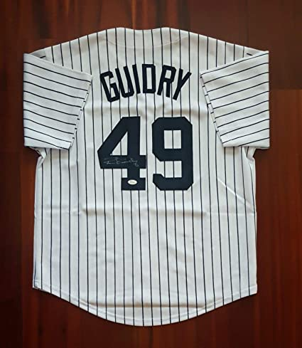 new concept 0d678 ff537 Ron Guidry Autographed Signed Jersey New York Yankees JSA at ...