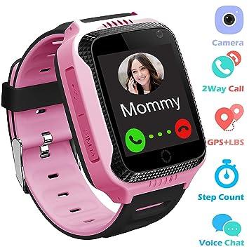 PalmTalk Home - Reloj de pulsera para niños con rastreador GPS y podómetro, alarma SOS