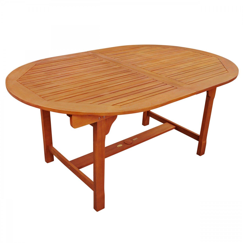 Gartentisch 110.Indoba Gartentisch Oval Ausziehbar Serie Sun Flair Ind