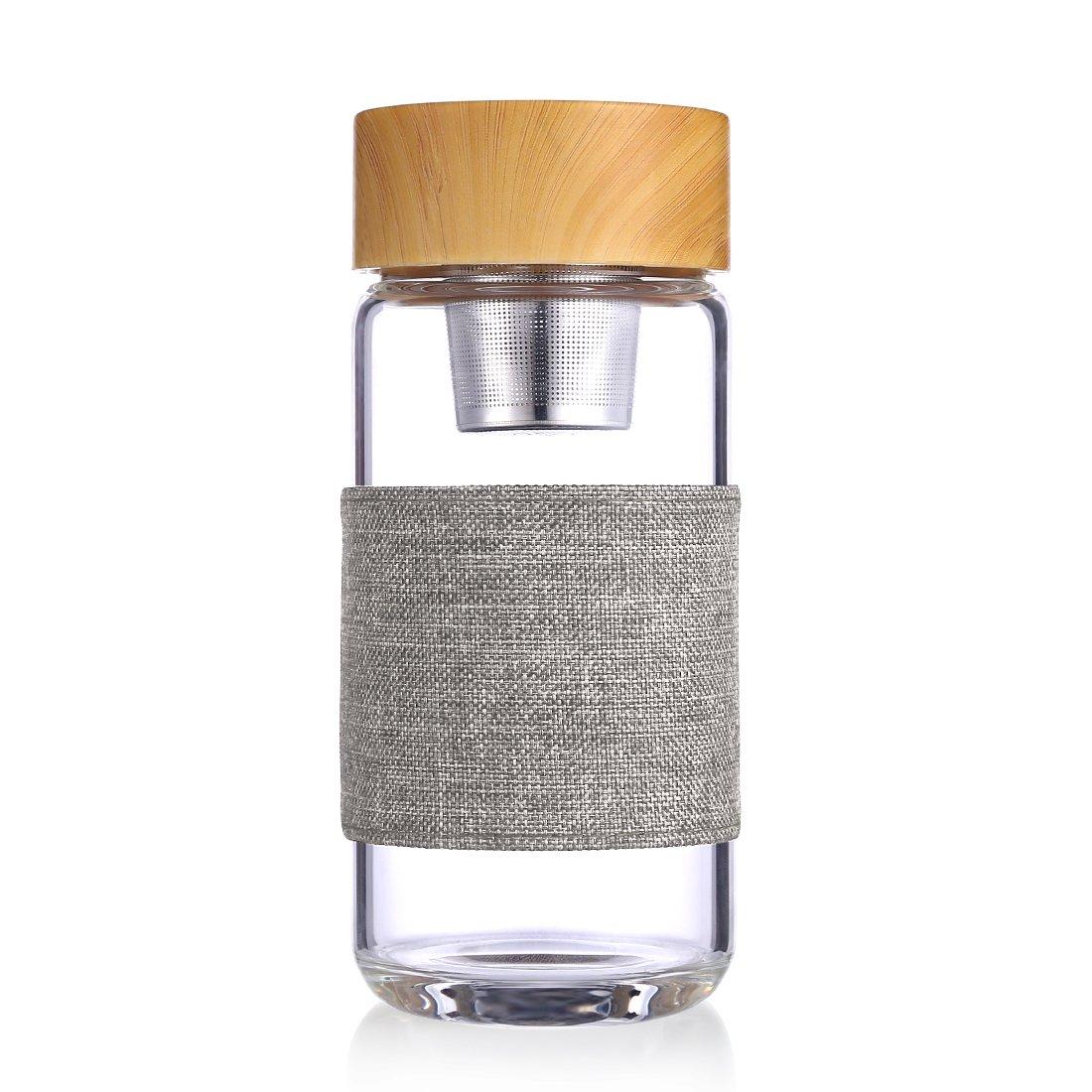 Awon gybl083 - 13 oz Botella de Agua infusor de té portátil ...