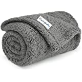 """furrybaby Premium Fluffy Fleece Dog Blanket, Soft and Warm Pet Throw for Dogs & Cats (Small (2432""""), Grey Blanket)"""