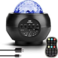 infinitoo Starry Sky Light Projector, Night Light Ambiance with Bluetooth Speaker, 13 Color Night Lamp with Remote…