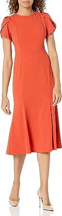 Calvin Klein Women's Tulip Sleeve Midi Dress