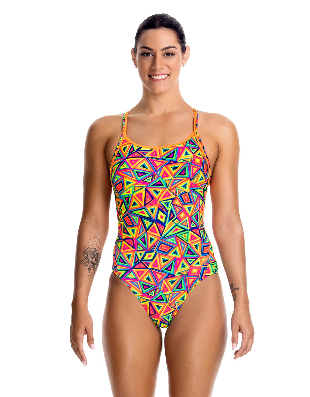Funkita Diamond Back One Piece Swimsuit Ladies Crazy Crayon 2017 Schwimmanzug