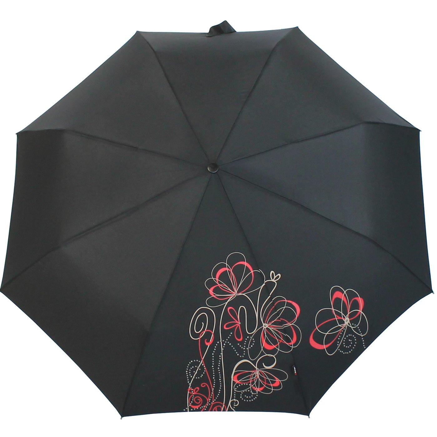 Knirps Duomatic - Paraguas grande de bolsillo Negro Flora black 97 cm: Amazon.es: Equipaje