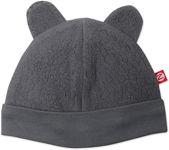 de0c9a809 Amazon.com: Zutano Unisex-Baby Newborn Cozie Fleece Hat, Gray, 3 ...