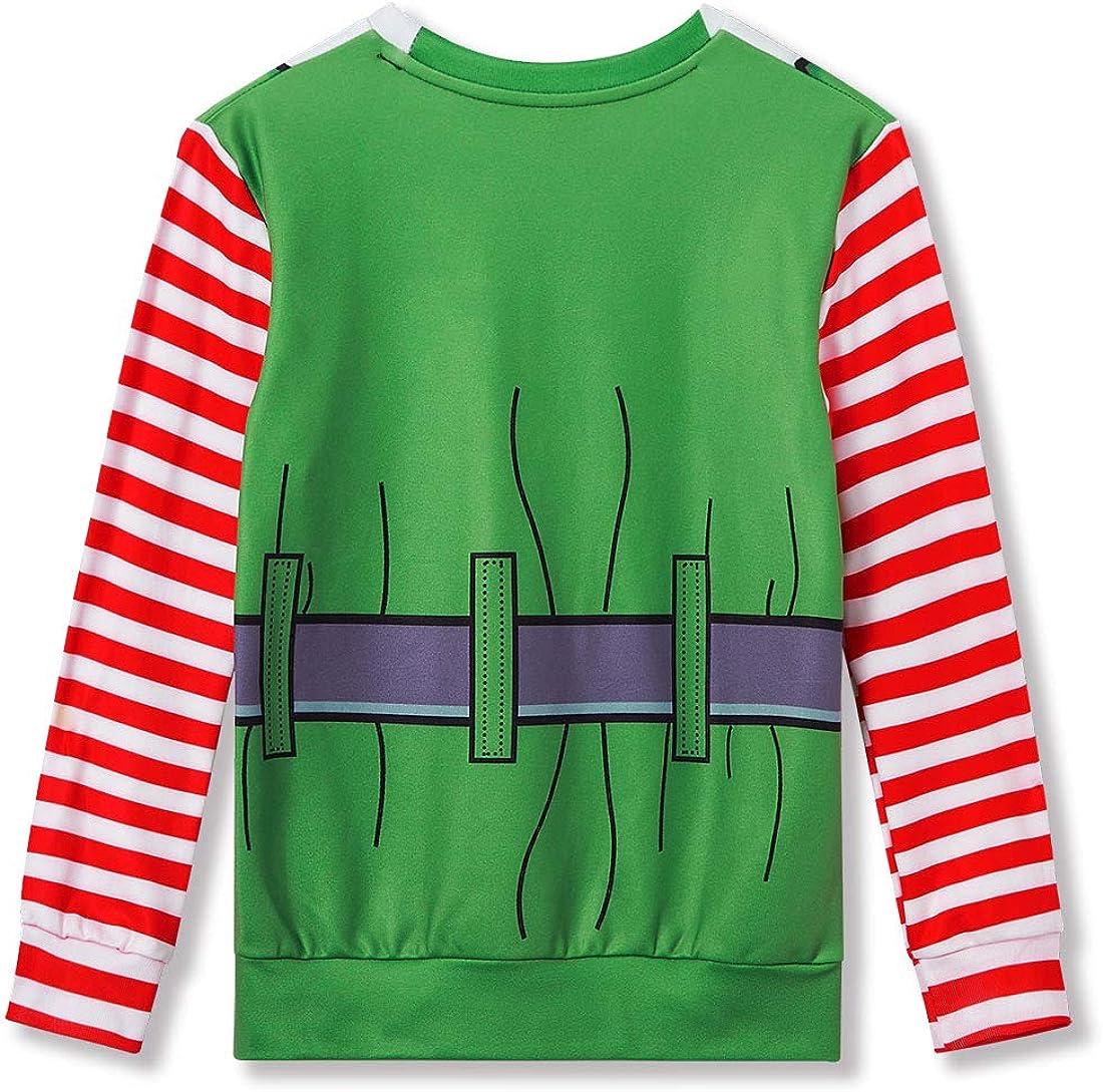 Funnycokid Ugly Christmas Sweater Boys Girls 3D Print Funny Xmas Pullover Sweatshirt Fleece Jumper 4-16Y