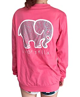 1ac23926c764f MUMUSEN Elephant Graphic Print T-Shirt Women Casual O Neck Casual Tees  Blouse Tops