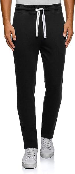 oodji Ultra Hombre Pantalones de Punto Básicos: Amazon.es: Ropa y ...