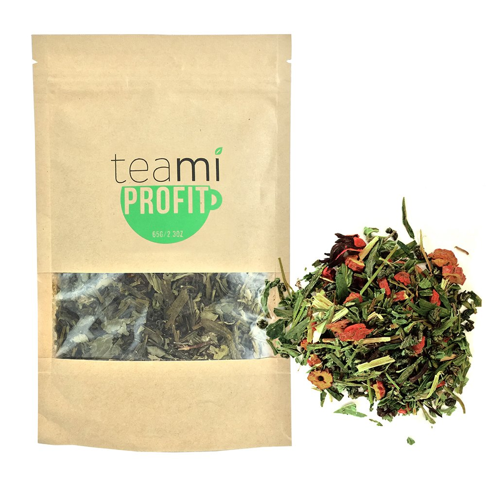 PREMIUM IMMUNE SYSTEM TEA & Antioxidant Stress Relief - TeaMi Profit by Teami Blends - Best for Immunity Booster & Support - with 100% Natural Blend of Herbs - Renew Energy - Helps Detox