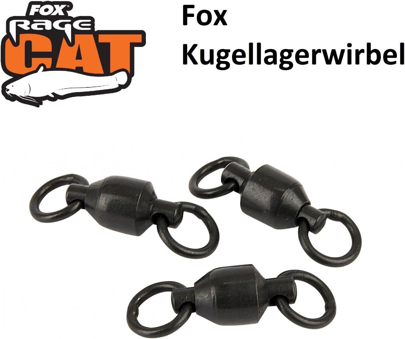 3 St/ück Wallerangeln Wirbel mit Kugellager Kugellagerwirbel Welswirbel Wirbel Fox Rage Cat Ball Bearing Swivels Wallerwirbel Welsangeln