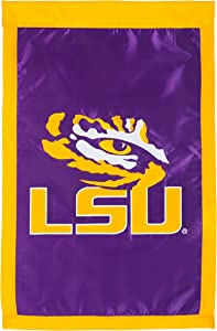 Team Sports America Double Sided Embellished Flag For Tigers Fans! Officially Licensed Louisiana State Weather and Fade Resistant Outdoor Flag 44 x 28 Inches