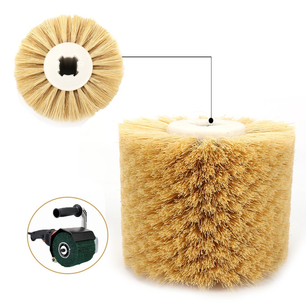 1Pc 12010020mm Sisal Polishing Waxing Wheel Brush for Rosewood Surface Finish
