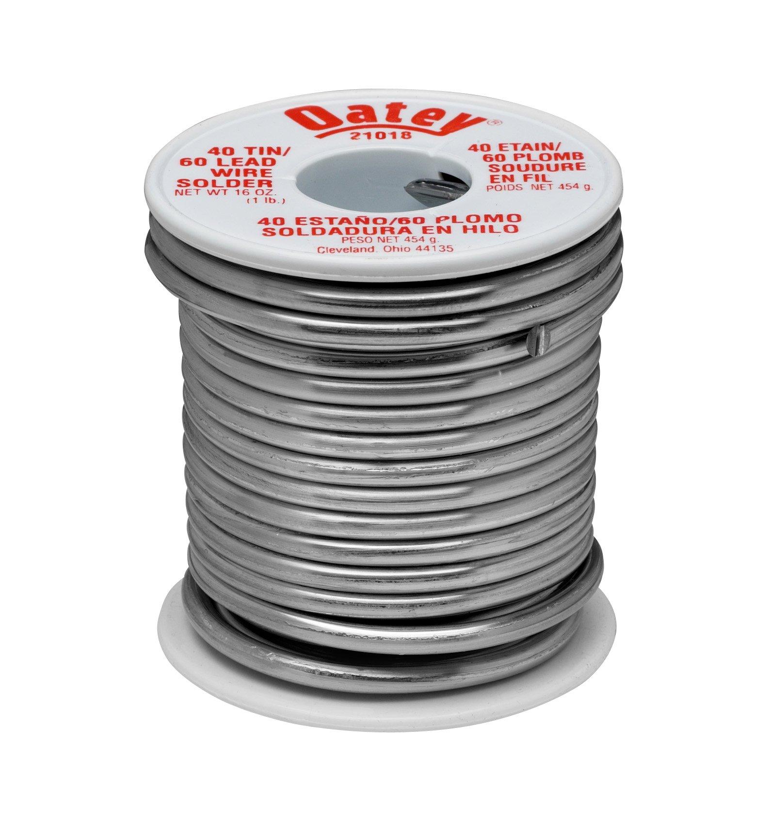 Oatey 21018 40/60 Wire Solder, 0.125-Inch ga. - 1 lb.