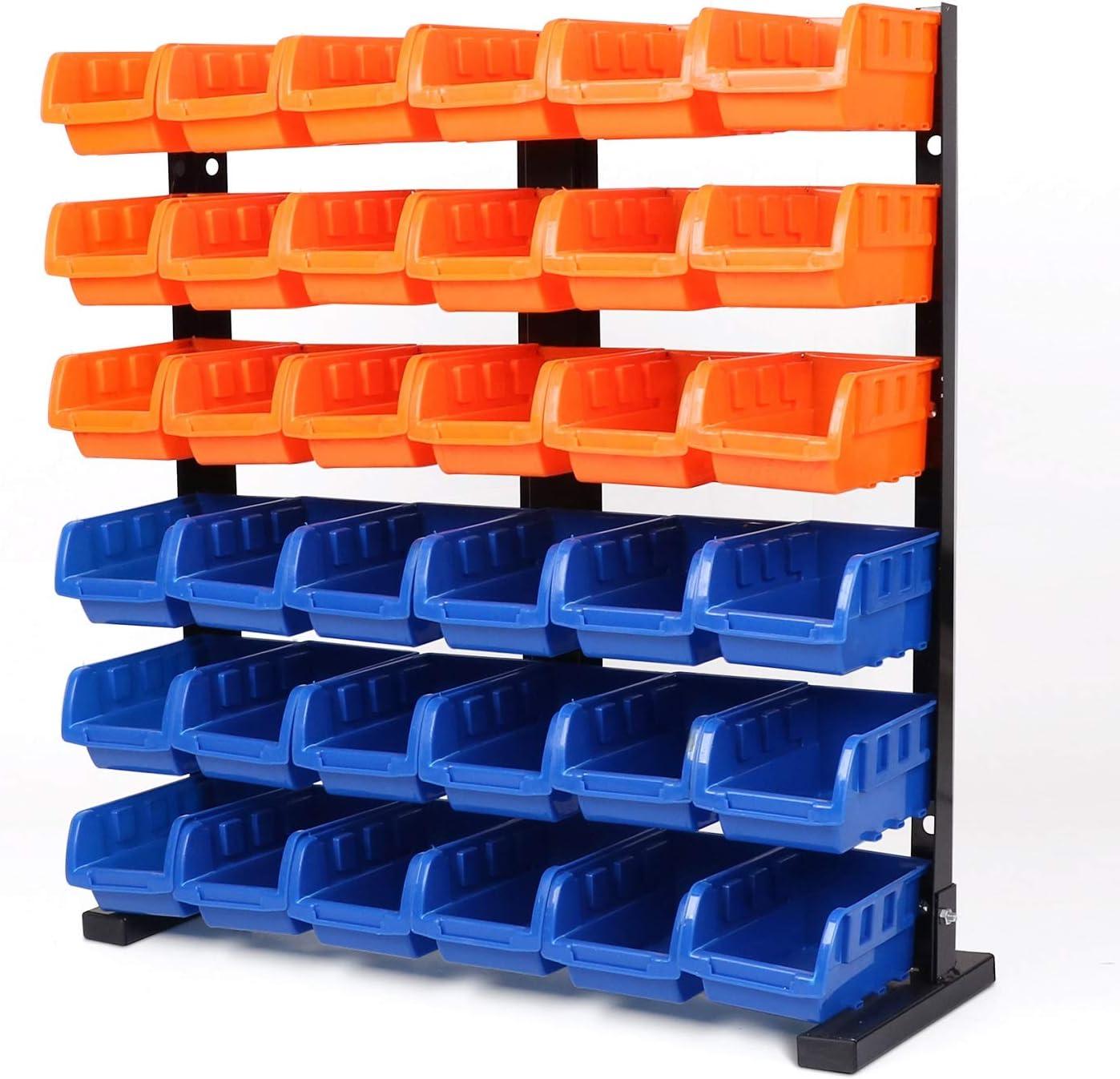 HORUSDY 36 Pcs Bin Storage Rack Shelving Garage Storage - Best Unique Tool Gift for Men