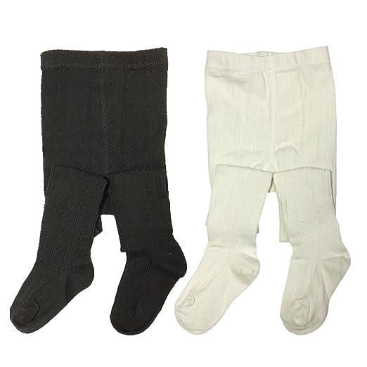 Amazon Bowbear 2 Pair Girls Warm Winter Cotton Ribbed Tights