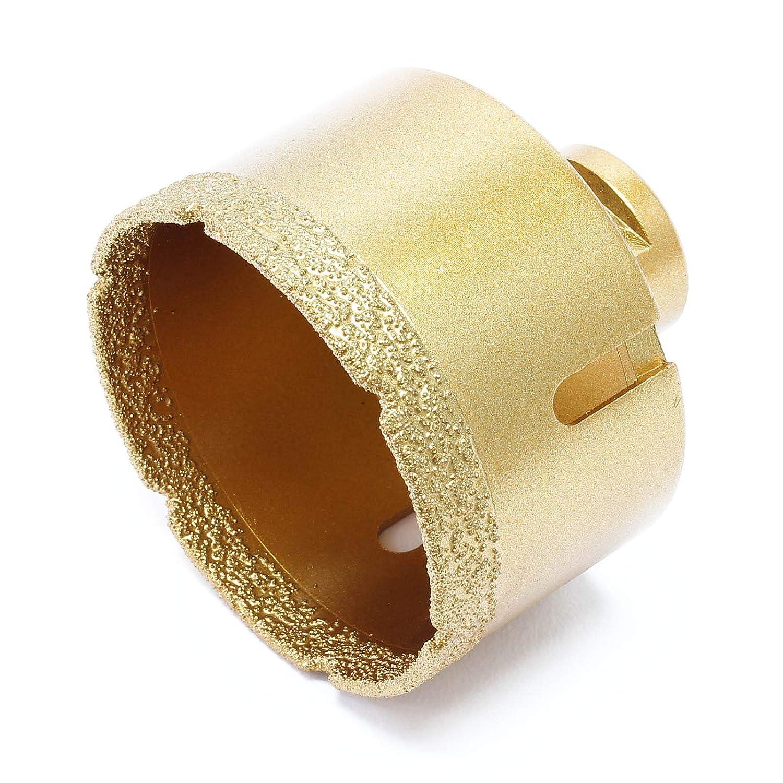 WilTec Forets à carrelage Forets à Verre Forets à Diamant Forets à Carotte Diamètre : 68mm