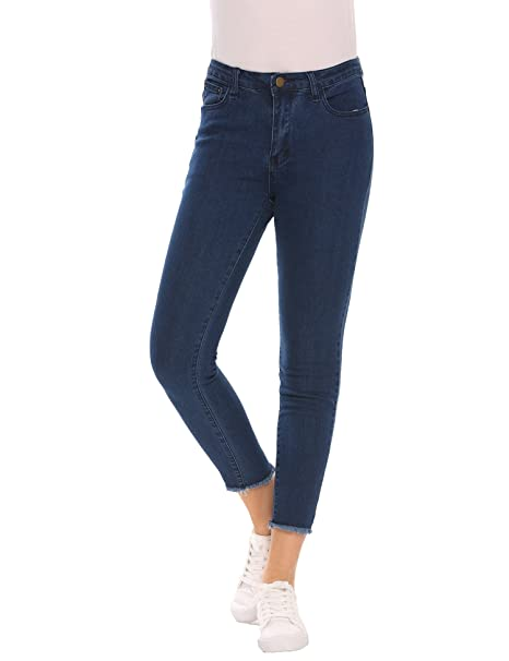 b6cb418e5a408 Womens Jeans Jeggings Five Pocket Stretch Denim Ankle Pants Slimming Skinny  Jean: Amazon.in: Clothing & Accessories