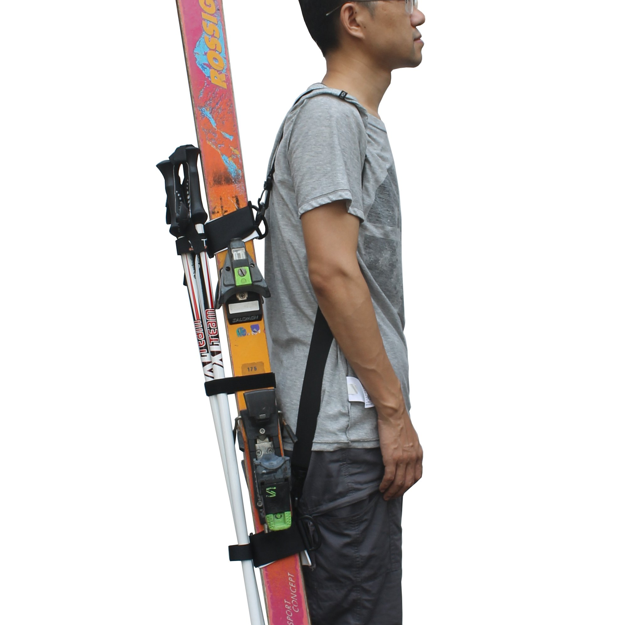 YYST ONE Picece Adjustable Ski Shoulder Carrier Ski Shoulder Lash Handle Straps The Shoulder Strap is Also a Boot Strap