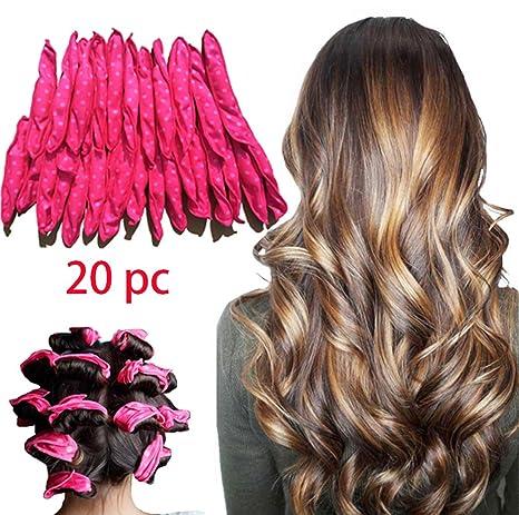 LIGE - 20 rizadores de pelo de esponja de espuma flexible, rizadores de pelo de