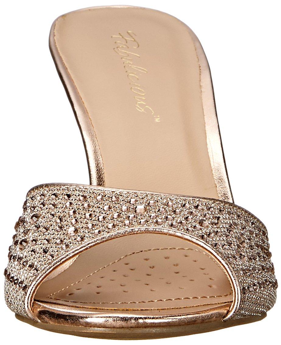 Fabulicious Women's LUCY01/Ggfa Dress Sandal, Gold Glitter Mesh Fabric, 9 M US by Fabulicious (Image #4)