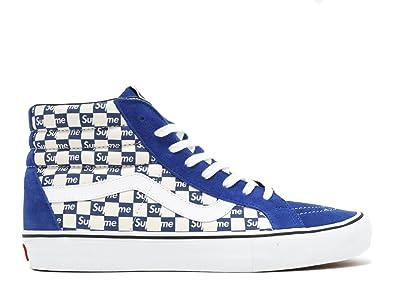 Vans Supreme X Sk8 Hi Pro Checkered Blue